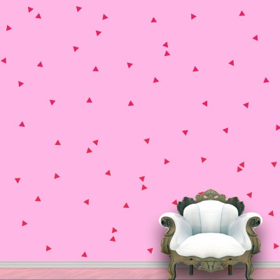 WallDesign Triangle Wall Pattern Pink Stickers Set of 120