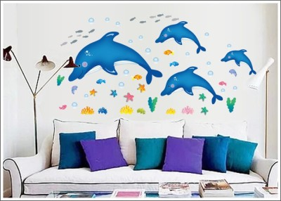 Oren Empower Dolphins Wall Sticker For Home Decoration