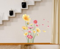 Oren Empower Putty Flower Wall Decoration For Bedroom(Multicolor)