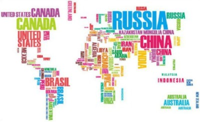 GrabDen Large Colourful World Map Wall Sticker