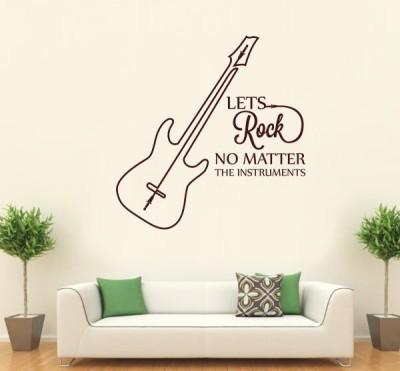 Hoopoe Decor Medium Lets Rock No matter instruments Sticker