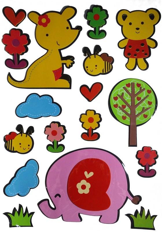 Hrinkar Large Acrylic Sticker(Pack of 1)