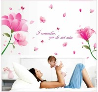 Oren Empower Romantic Fashion Dream Pink Flower Wall Sticker(87 cm X cm 170, Pink)