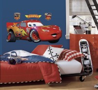 Nilaya by Asian Paints Large Cars - Lightening McQueen Gian Sticker(Pack of 1)