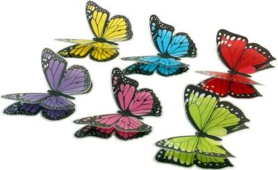 SunBoy Medium 3D Self Sticking Butterfly Wall Art Decor Sticker