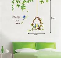 Oren Empower Cute Birdcage Design Home Decoration Wall Sticker(82 cm X cm 82, Multicolor)