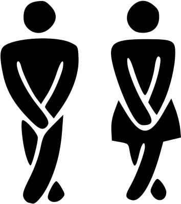 GrabDen Medium Funny Toilet Sticker