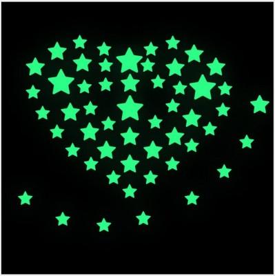 GrabDen Extra Large Fluorescent Glow In The Dark Stars Wall Sticker