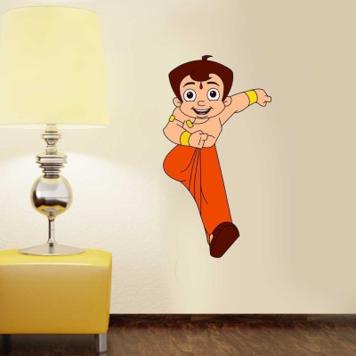 Chhota Bheem Small Pigmented Polyvinyl Sticker