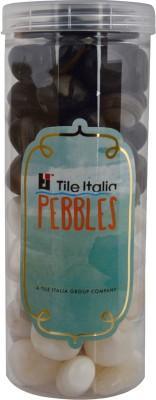 Tile Italia Pebbles Onyx White & Onyx Black Pebbles Polished Round Onyx Pebbles