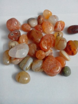 RM Red polished asymmetric natural pebbles for decoration Polished Asymmetrical Marble Stone