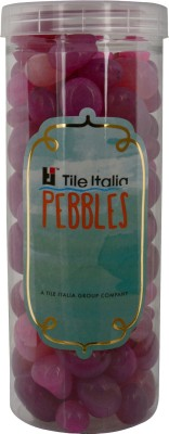 Tile Italia Pebbles Onyx Ruby Pebbles Polished Round Onyx Pebbles