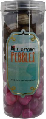 Tile Italia Pebbles Onyx Black & Onyx Ruby Pebbles Polished Round Onyx Pebbles