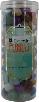 Tile Italia Pebbles Onyx Mixed Pebbles Polished Round Onyx Pebbles