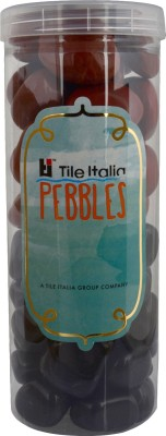 Tile Italia Pebbles Black & Jasper Pebbles Polished Round Jasper Pebbles