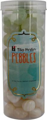 Tile Italia Pebbles Onyx White & Onyx Lemon Yellow Pebbles Polished Round Onyx Pebbles