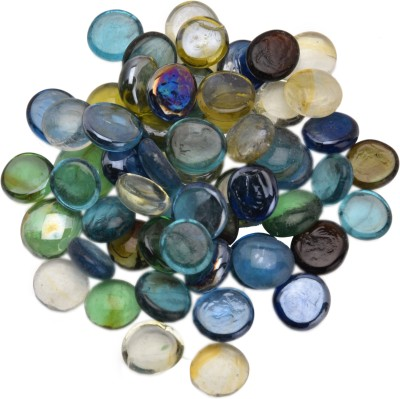 Look's Interior LI-17 Painted, Polished Round Fire Glass Stone(Multicolor 500 g)