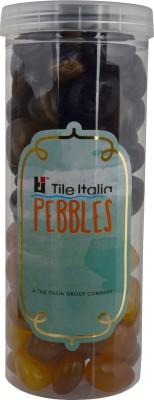 Tile Italia Pebbles Onyx Black & Onyx Yellow Pebbles Polished Round Onyx Pebbles