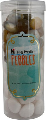 Tile Italia Pebbles White & Navrang Pebbles Polished Round Quartz Pebbles
