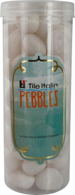 Tile Italia Pebbles White Polished Pebbles Polished Round Quartz Pebbles