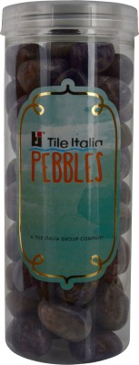 Tile Italia Pebbles Amethist Pebbles Polished Round Quartz Pebbles(Purple 1 kg)