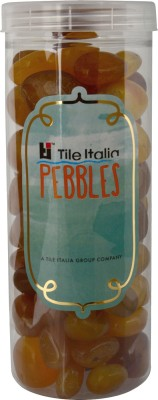 Tile Italia Pebbles Onyx Yellow Pebbles Polished Round Onyx Pebbles