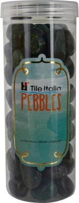 Tile Italia Pebbles Dark Green Pebbles Polished Round Limestone Pebbles