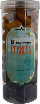 Tile Italia Pebbles Black & Jaisalmer Pebbles Polished Round Granite Pebbles