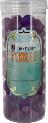 Tile Italia Pebbles Onyx Violet Pebbles Polished Round Onyx Pebbles