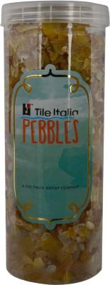 Tile Italia Pebbles Yellow Onyx Polished Chips Polished Angular Onyx Stone
