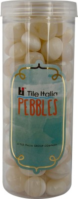 Tile Italia Pebbles Onyx White Pebbles Polished Round Onyx Pebbles