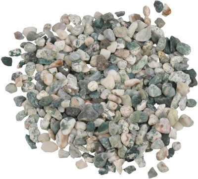 Decor Pebbles SP0F42 Polished Asymmetrical Marble Pebbles(Green 1 kg)