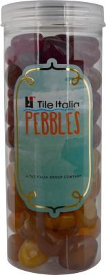 Tile Italia Pebbles Onyx Garnet & Onyx Yellow Pebbles Polished Round Onyx Pebbles