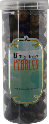 Tile Italia Pebbles Onyx Black Pebbles Polished Round Onyx Pebbles