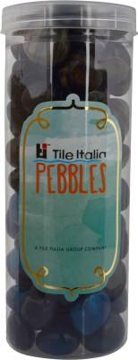 Tile Italia Pebbles Onyx Black & Onyx Sea Blue Pebbles Polished Round Onyx Pebbles