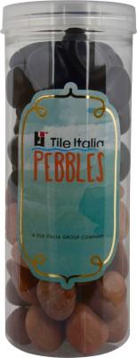 Tile Italia Pebbles Black & Pink Pebbles Polished Round Granite Pebbles