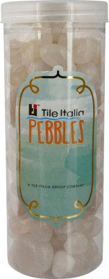 Tile Italia Pebbles Crystal Pebbles Polished Round Crystal Pebbles(Clear 1 kg)