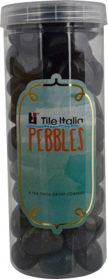 Tile Italia Pebbles Black & Dark Green Pebbles Polished Round Granite Pebbles