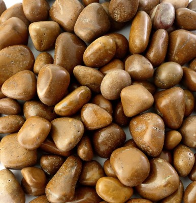 Decor Pebbles FSP025 Polished Asymmetrical Sandstone Pebbles(Yellow 1 kg)