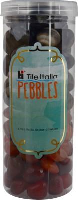 Tile Italia Pebbles Onyx Black & Carnallion Pebbles Polished Round Onyx Pebbles