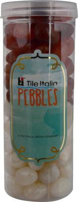 Tile Italia Pebbles Onyx White & Carnallion Pebbles Polished Round Onyx Pebbles