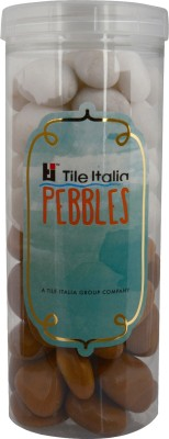 Tile Italia Pebbles White & Jaisalmer Pebbles Polished Round Quartz Pebbles