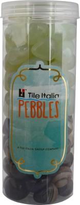 Tile Italia Pebbles Onyx Black & Onyx Lemon Yellow Pebbles Polished Round Onyx Pebbles