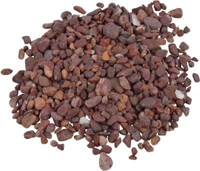 Decor Pebbles SP0F44 Polished Asymmetrical Marble Pebbles(Red 1 kg)