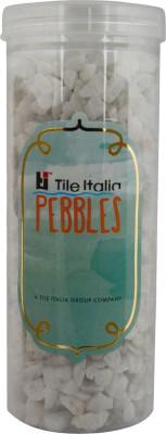 Tile Italia Pebbles White Whisper Unpolished Chips Polished Angular Marble Stone