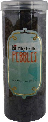 Tile Italia Pebbles Black Polished Chips Polished Angular Granite Stone