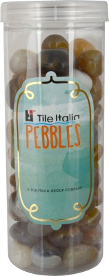 Tile Italia Pebbles Navrang Pebbles Polished Round Granite Pebbles(Multicolor 1 kg)