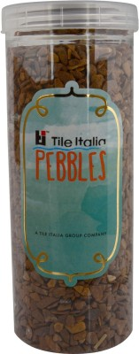 Tile Italia Pebbles Buff Yellow Unpolished Chips Polished Angular Slate Stone