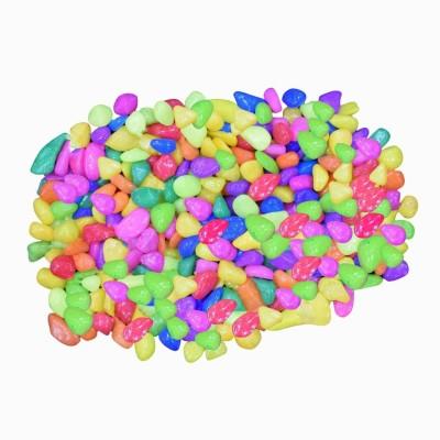 AsianHobbyCrafts ASNHC1105_A_FBA Regular Asymmetrical Marble Pebbles(Multicolor 190 Pieces)