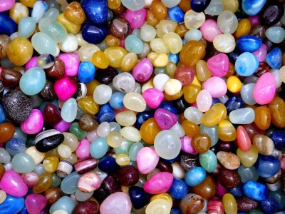 Chave CHV-PBL-5K Polished Asymmetrical Onyx Pebbles(Multicolor 5 kg)